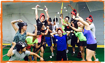 archery tag team building